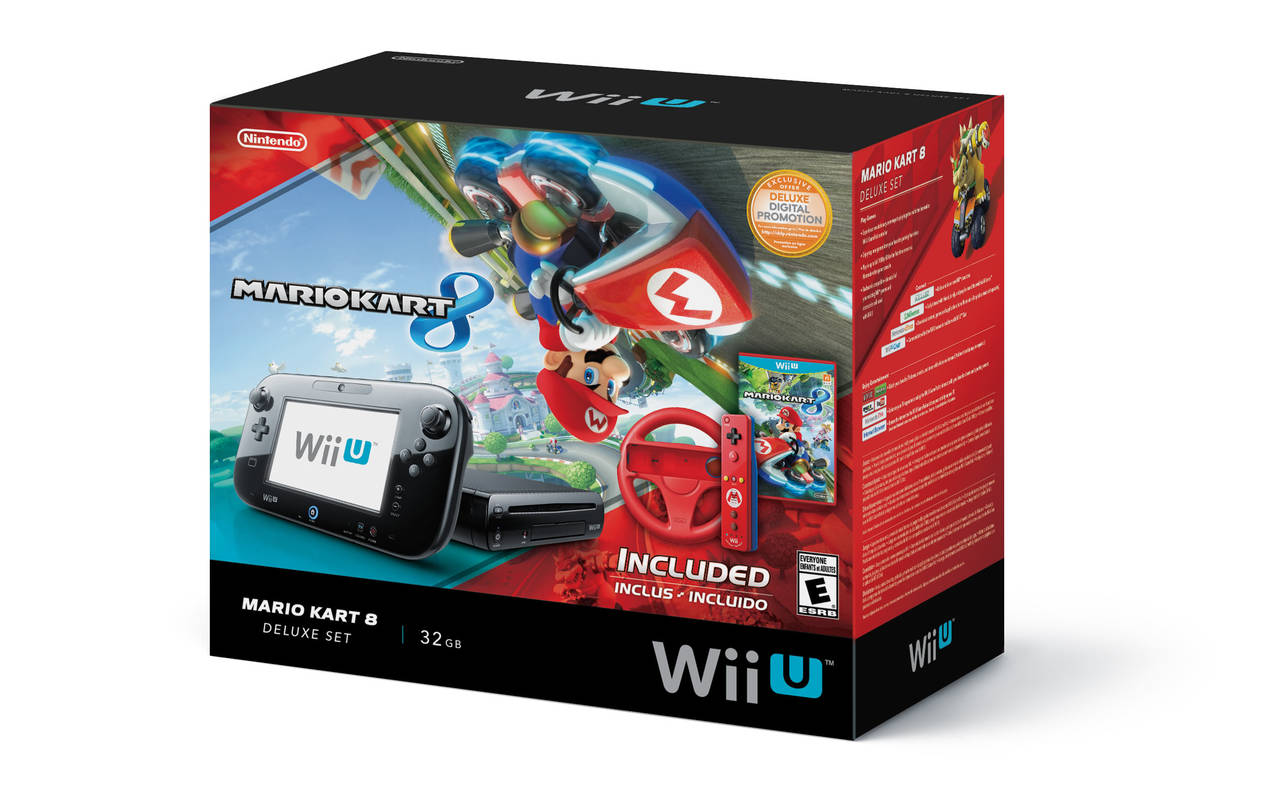 nintendo wii u bundle con mario kart 8 un control con. Black Bedroom Furniture Sets. Home Design Ideas